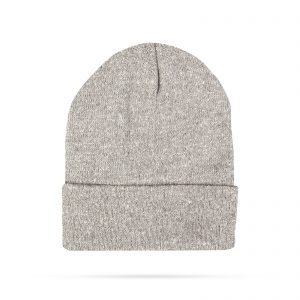 Zimska pletena kapa - siva - bleščeča