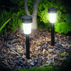 Zunanja LED solarna svetilka - 300 x 45 mm - plastika - črna