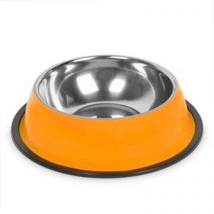 Posoda za hranjenje - 22 cm - oranžna