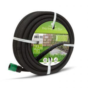 Cev za kapljično namakanje s hitrim priključkom, 20 m - črna